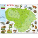 Larsen-K47-LT Frame Puzzle - Physical Map of Lithuania