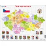 Larsen-K48-CZ Frame Puzzle - Political Map of Czech Republic