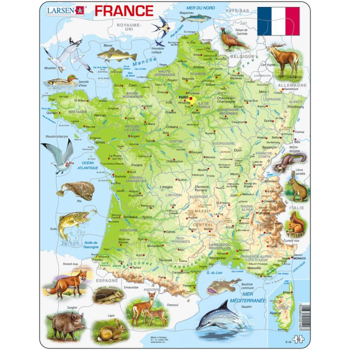 Frame Jigsaw Puzzle - France (in French)