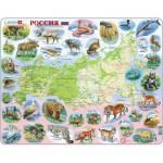 Larsen-K50-RU Frame Jigsaw Puzzle - Russia (in Russian)