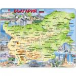 Larsen-K52-BG Frame Puzzle - Physical Map of Bulgaria