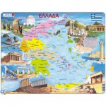Larsen-K54-GR Frame Puzzle - Political Map of Greece