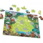 Larsen-K56-RU Frame Jigsaw Puzzle - Map and Fauna of Belarus (Russian)