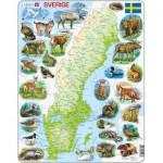 Larsen-K6-SE Frame Puzzle - Physical Map of Sweden