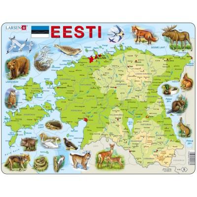 Larsen-K66-EE Frame Puzzle - Physical Map of Estonia
