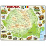 Larsen-K67 Frame Puzzle - Physical Map of Romania