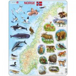 Larsen-K68-NO Frame Puzzle - Physical map of Norway