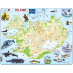 Larsen-K7-IS Frame Jigsaw Puzzle - Iceland (in Icelandic)