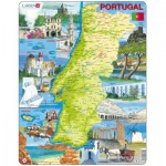Larsen-K71-PT Frame Puzzle - Physical map of Portugal