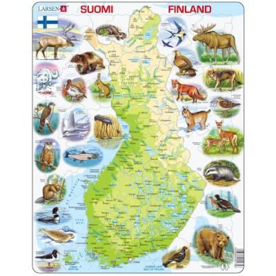 Larsen-K75-FI Frame Puzzle - Physical map of Finland