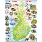 Larsen-K75-FI Frame Puzzle - Physical map of Finland