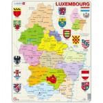 Larsen-K77-V1 Frame Puzzle - Political map of Luxemburg