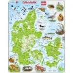 Larsen-K78-DK Frame Puzzle - Physical map of Denmark