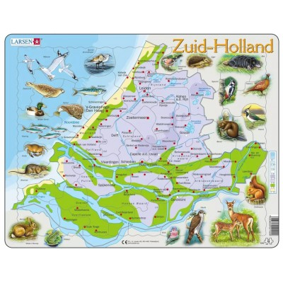 Larsen-K90-NL Frame Jigsaw Puzzle - Map of the Netherlands (in Dutch)