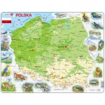 Larsen-K98-PL Frame Puzzle - Poland Physical Map