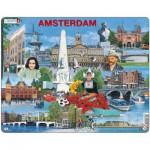 Larsen-KH11 Frame Puzzle - Amsterdam