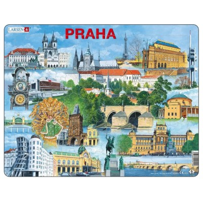 Larsen-KH12-CZ Frame Puzzle - Prague