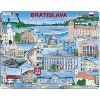 Larsen-KH17-SL Frame Puzzle - Bratislava Souvenir