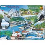 Larsen-KH5 Frame Puzzle - Souvenir from Flekkefjord