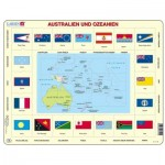 Larsen-KL5-DE Frame Jigsaw Puzzle - Australia and Oceania (in German)