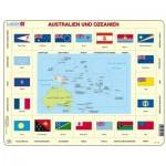 Larsen-KL5-DE Frame Jigsaw Puzzle - Australia and Oceania (in German)