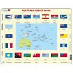 Larsen-KL5-GB Frame Jigsaw Puzzle - Australia and Oceania