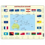 Larsen-KL5-NL Frame Jigsaw Puzzle - Australia and Oceania (in Dutch)