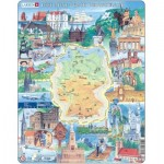Larsen-KS2-DE Frame Jigsaw Puzzle - Landmarks of Germany (in German)