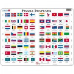 Larsen-L2-FR Frame Jigsaw Puzzle - Flags (in French)