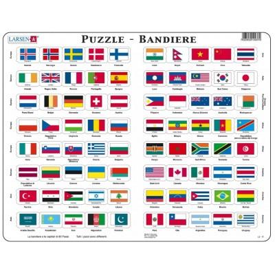 Larsen-L2-IT Frame Jigsaw Puzzle - Bandiere