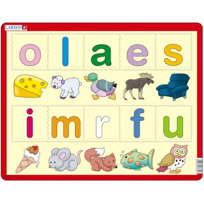 Puzzle Larsen-LS21 Learn the letters (Norwegian)