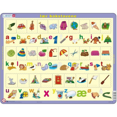 Puzzle Larsen-LS29 Learn the letters (Norwegian)