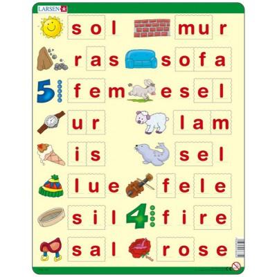 Puzzle Larsen-LS35 Learn to spell, Norwegian