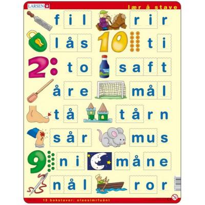 Puzzle Larsen-LS36 Learn to spell, Norwegian