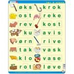 Puzzle  Larsen-LS37 Learn to spell, Norwegian