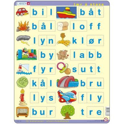 Puzzle Larsen-LS38 Learn to spell Norwegian