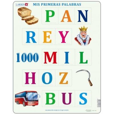 Larsen-LS40-ES Frame Puzzle - Mis Primeras Palabras (in Spanish)