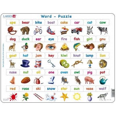 Puzzle Larsen-LS41-GB Learn to read