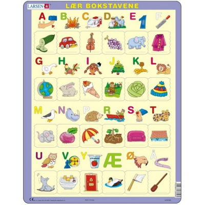 Puzzle Larsen-LS9 Learn the letters (Norwegian)