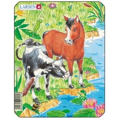 Larsen-M1-2 Frame Jigsaw Puzzle - Cute Animals