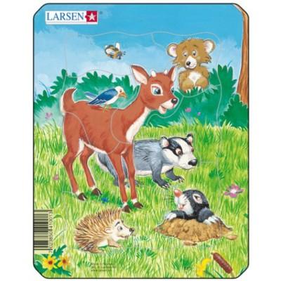 Larsen-M1-3 Frame Jigsaw Puzzle - Cute Animals