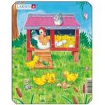 Larsen-M1-4 Frame Jigsaw Puzzle - Cute Animals
