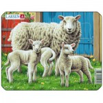 Larsen-M5-1 Frame Jigsaw Puzzle - Farm Animals