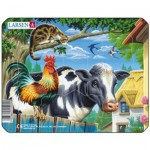 Larsen-M5-2 Frame Jigsaw Puzzle - Farm Animals