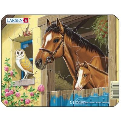 Larsen-M5-3 Frame Jigsaw Puzzle - Farm Animals