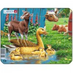 Larsen-M5-4 Frame Jigsaw Puzzle - Farm Animals