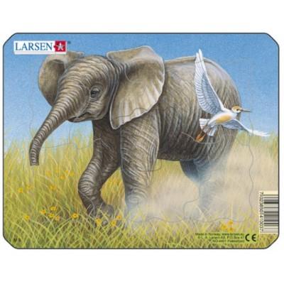 Larsen-M9-1 Frame Jigsaw Puzzle -Elephant