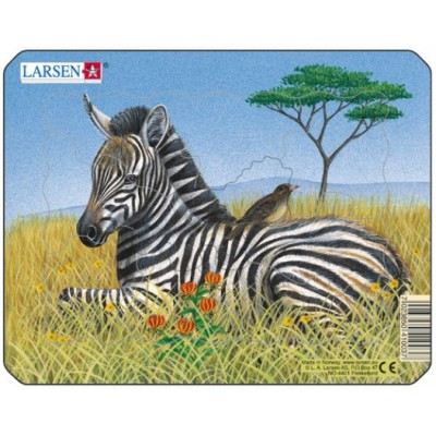Larsen-M9-3 Frame Jigsaw Puzzle - Zebra