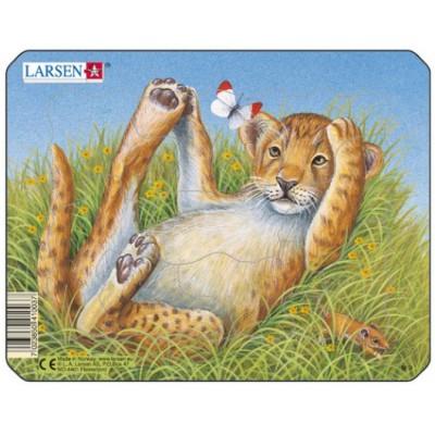 Larsen-M9-4 Frame Jigsaw Puzzle - Leopard