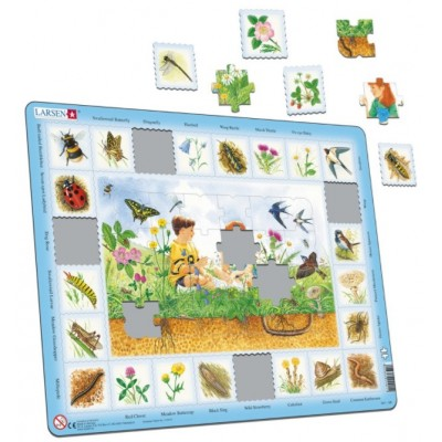 Larsen-NA1-NL-HO Frame Puzzle - Field (in Dutch)